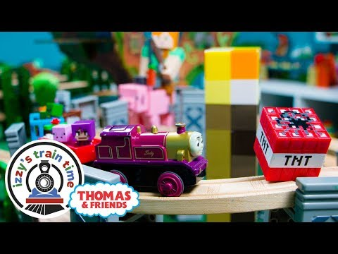 THOMAS TRAIN MINECRAFT TRACK! Thomas and Friends | Fun Toy Trains for Kids with Brio
