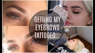 GETTING OMBRE BROWS / SEMI-PERMANENT MAKEUP | Jordan Bone
