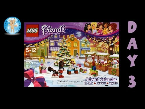 LEGO Friends Advent Calendar 41102 Day 3 Stop Motion Animation Build - Family Toy Report