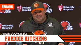 Freddie Kitchens Responds to Baker's Comments on OBJ Injury | Cleveland Browns