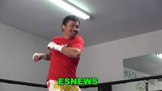 Manny Pacquiao Last Workout In Vegas Full Shadow Boxing Session EsNews Boxing