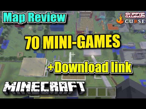 MINECRAFT - PS3 - 70 MINI GAMES MAP REVIEW + DOWNLOAD LINK ( PS4 ) TU19 SERVER UPDATE
