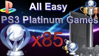 All 85 Easy PS3 Platinum Games