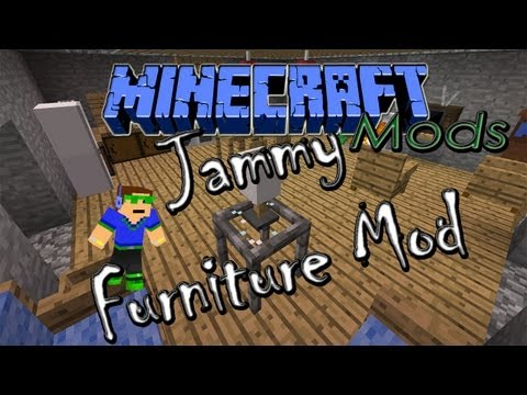 ★ ENG 1.5.2 Minecraft Mods - Jammy Furniture Mod. ft RevTut! Review & Tutorial + Installation ➚