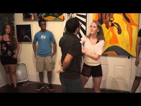 Eddie & Karrie - Zouk Demo at Wednesday Beginner Dance Class and Social