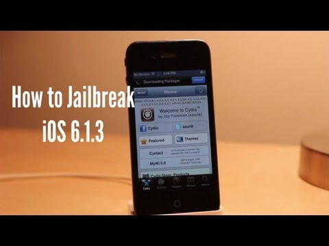 How to Jailbreak and Install Cydia on iOS 6.1.3 iPhone iPod
