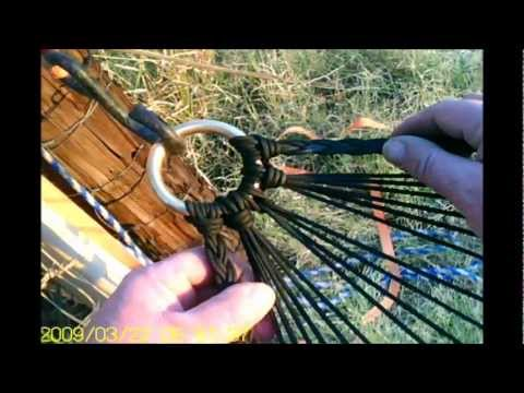 Cool Paracord Stuff # 33 Paracord Hammock Progress - YouTube