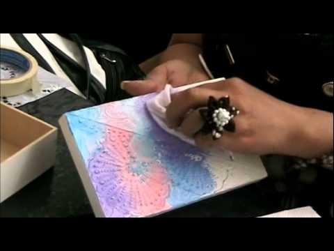 T cnica de pintura en textura youtube - Tecnicas decorativas ...