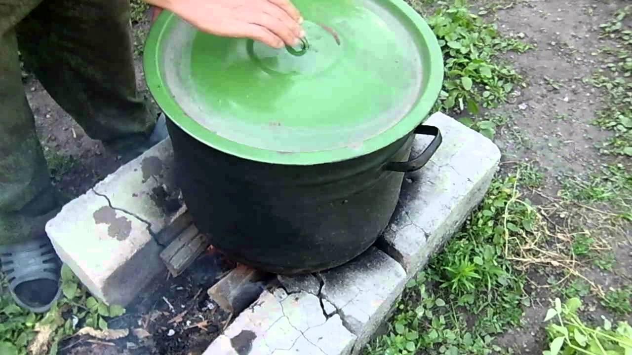 Коптильня горячего копчения из кастрюли своими руками