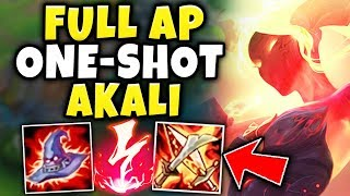 FULL AP INSTANT ONE-SHOT AKALI! THE STRONGEST DAMAGE BUILD IS BACK! - League of Legends