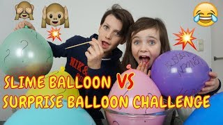 SLIME BALLOON vs SURPRISE BALLOON CHALLENGE | SLIJM MAKEN - Bibi & Tobias