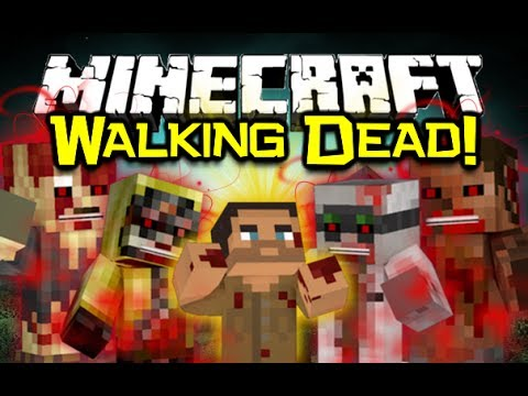 Minecraft: THE CRAFTING DEAD MOD Spotlight! - Walking Dead & DayZ Survival! (Minecraft Mod Showcase)