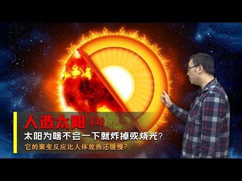 太陽爲啥不會瞬間就炸掉?核聚變比人體放熱還緩慢嗎?李永樂老師講人造太陽(1)
