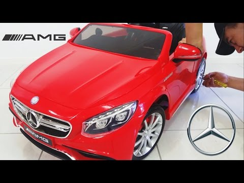 Mercedes Benz S63 AMG Ride On Car Toy 12 Volt Unboxing diy