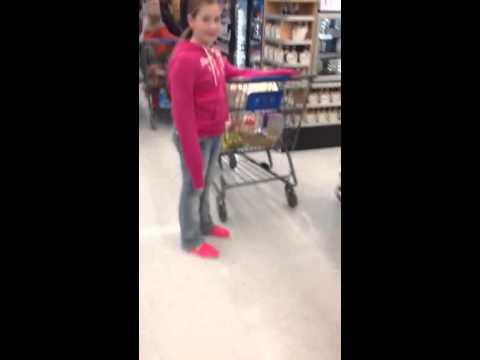 12 year old girl singing at Walmart