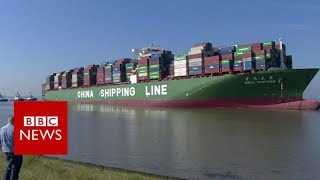 Stuck cargo ship in hot water- BBC News