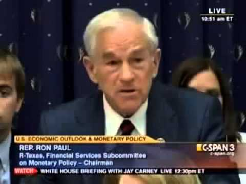 Ron Paul asks Ben Bernanke - Is Gold Money