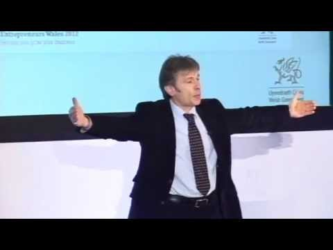 Bruce Dickinson speaking at Entrepreneurs Wales 2012