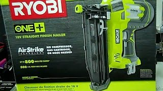 Ryobi P325   AirStrike 16ga Finish Nailer   18v ONE+  Demonstration and Review | Real Tool Reviews