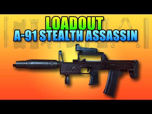 BF4 Loadout A-91 Stealth Assassin - A Great Silent Weapon | Battlefield 4 Carbine Gameplay