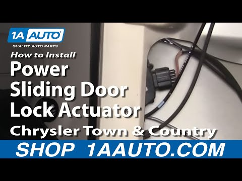 How To Install Replace Power Sliding Door Lock Actuator Chrysler Town