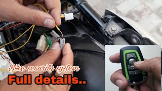 Antitheft alarm system in all bike and scooty full details whtsapp me before installation