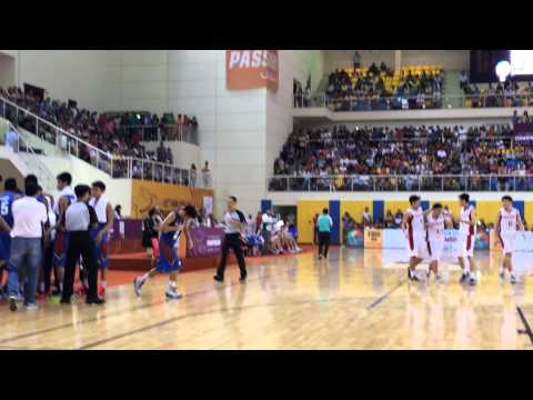 Batang Gilas vs. Malaysia Fiba Asia U18 4qtr 29.2secs 69 all Caracut Trey! Bang!