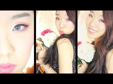 Romantic Spring Makeup (Great for monolids) // koreanlovesbeauty