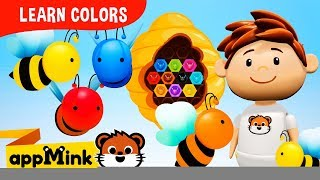 Educational Video for Toddlers With Playful Honey Color Bees