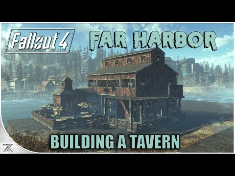 Fallout 4 Far Harbor - Building With Barn Items | Constructing a Tavern