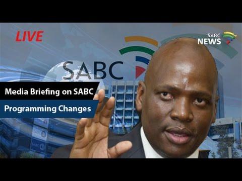 Media Briefing on SABC programming changes