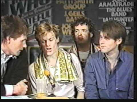 Bryan Adams Band interview 1983