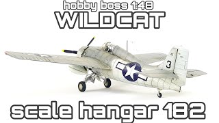 Wildcat 1/48 scale model kit build video