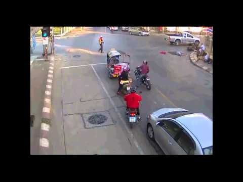Inspector traffic police made accident