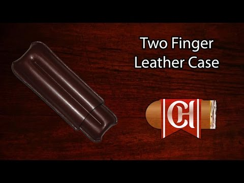 Two Finger Leather Cigar Case