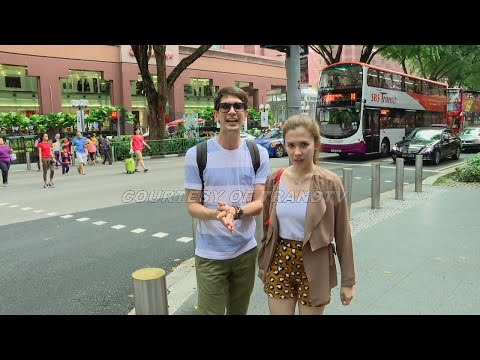 CELEBRITY ON VACATION - Dimas Beck And Michele Joan  Goes To Singapore 1 Part 1/3