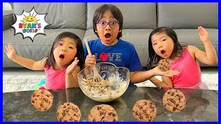 Ryan's Q&A while baking Cookies!!! Interview Kids on Favorite Things!!!
