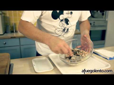 Receta montadito de anchoas atún y alcaparras Tapas
