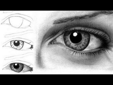 Видео как нарисовать глаза человека карандашом поэтапно