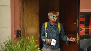 Kate Spade's Husband Makes Bizarre Appearance Wearing Cartoon Mouse Mask