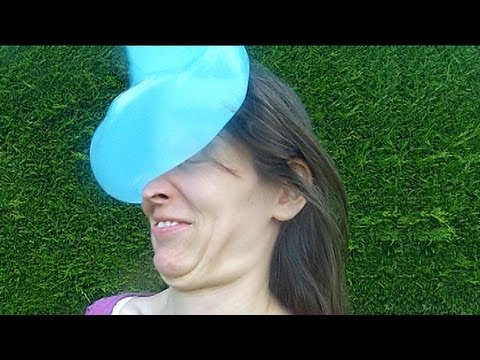 Water Balloon Fail Doesn't Pop Girls Face Slow Motion video
