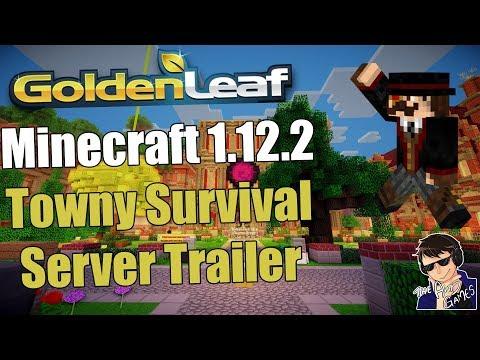 Minecraft Survival Server 1.12.2 Trailer - Goldenleaf Towny Server