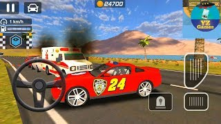 Police Car Chase | Cop Simulator 2018: Car Driving 3D Skin Red Car Police Android GamePlay FHD