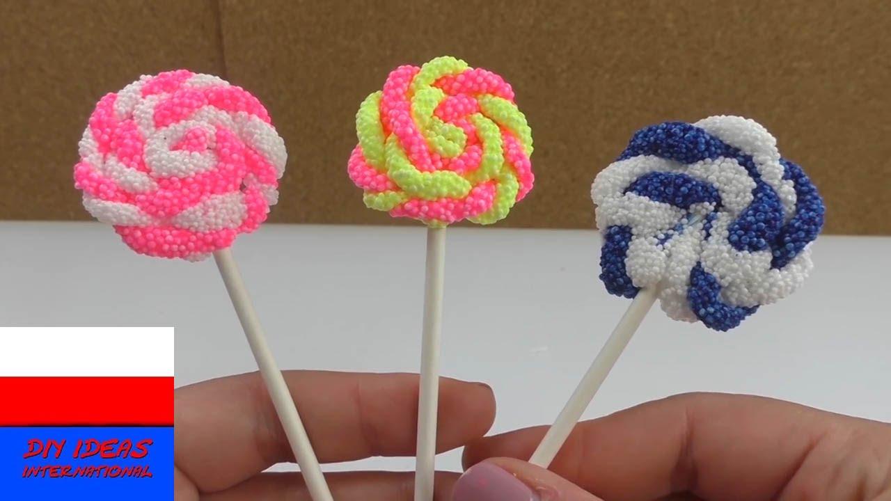 Masa piankowa | lizaki z Foam Clay | pomysł na dekorację bądź prezent