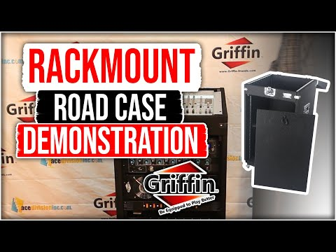 Griffin Rackmount Road Case Studio Mixer Cabinet Product Review and Demonstration Model DEQ02