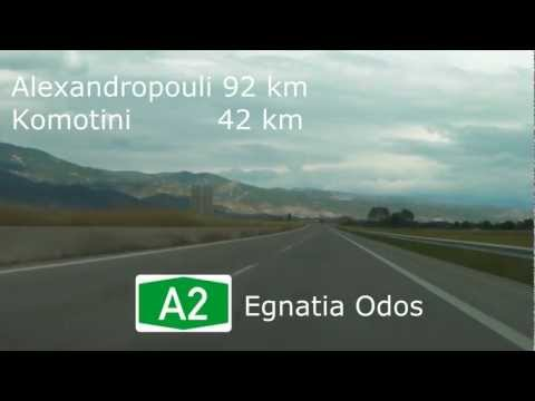 Greece: Highway A2 Xanthi - Komotini