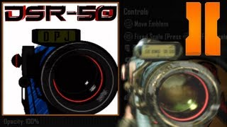 Black Ops 2 - DSR-50 Quick Scoping Emblem Tutorial (w/ ballistics CPU)