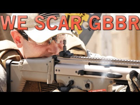 Airsoft GI - WE SCAR Gas Blow Back Rifle Gun Review at SC Village Viper