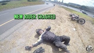 NEW RIDER CRASHED