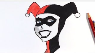 How to Draw Harley Quinn Step by Step- Easy Drawings